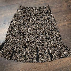 Allison Taylor Black Tan Split Hem Stretch Skirt